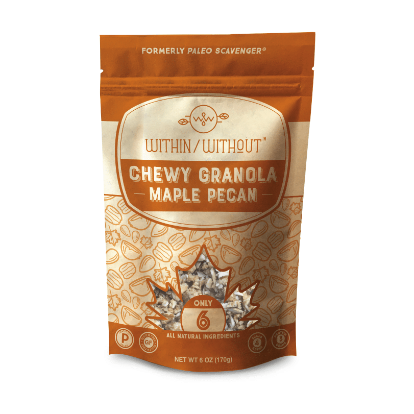 Maple Pecan Granola - Within:Without - Certified Paleo, Paleo Vegan - Paleo Foundation