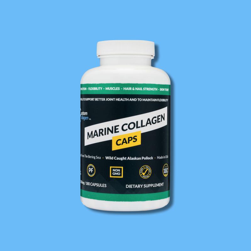 Marine CollagenCaps - Custom Collagen 10 - Certified Paleo Friendly, Keto Certified by the Paleo Foundation