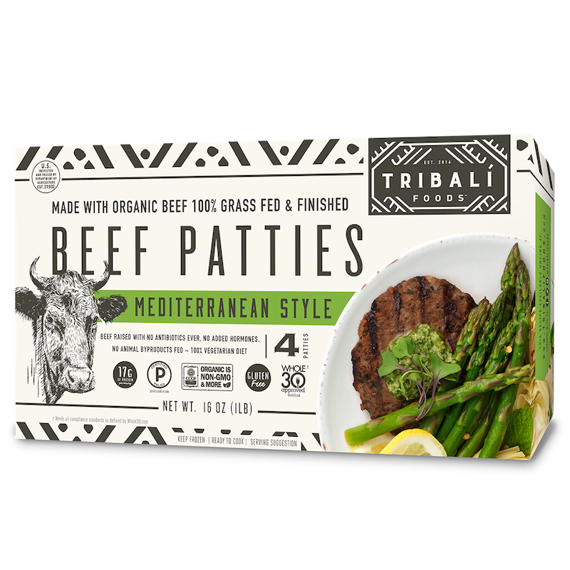 Mediterranean Style Beef Patty - Tribali - Certified Paleo by the Paleo Foundation