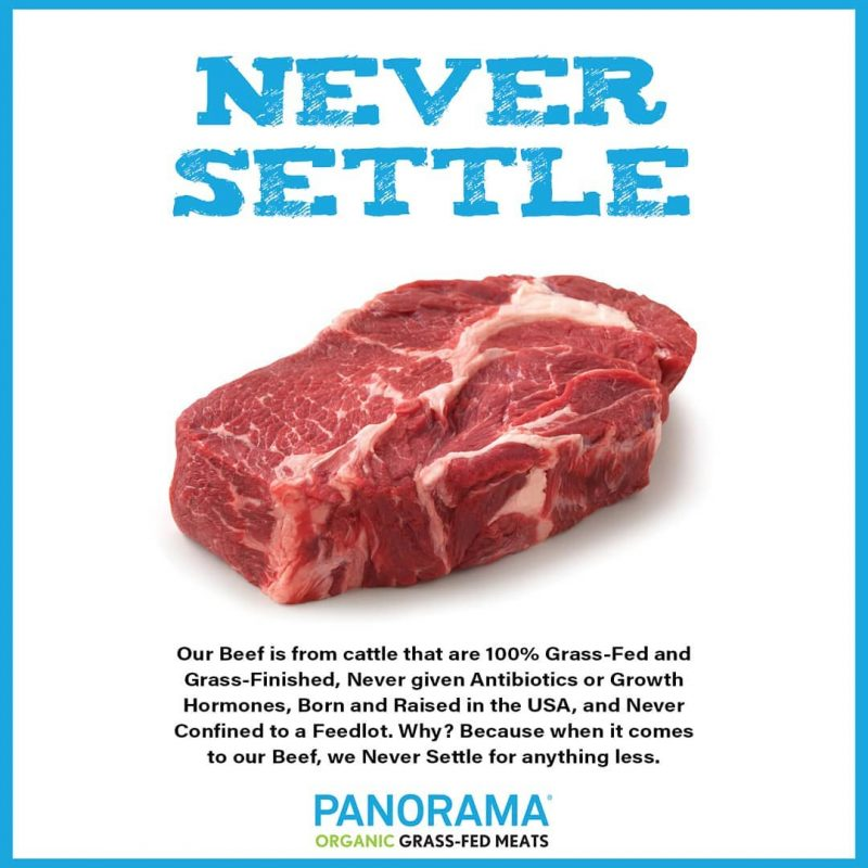 Never Settle - Panorama Meats - Certified Paleo, Keto Certified by the Paleo Foundation