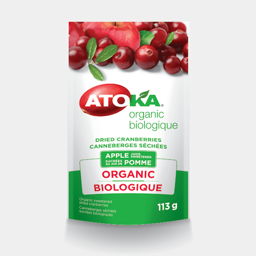 Organic Dried Cranberries Sweetened With Apple Juice - Atoka - Certified Paleo - Paleo Foundation