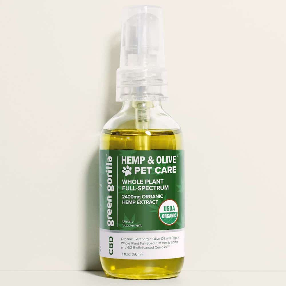 Organic Full Spectrum CBD Oil for Dogs & Pets - Green Gorilla - Certified Paleo by the Paleo Foundation