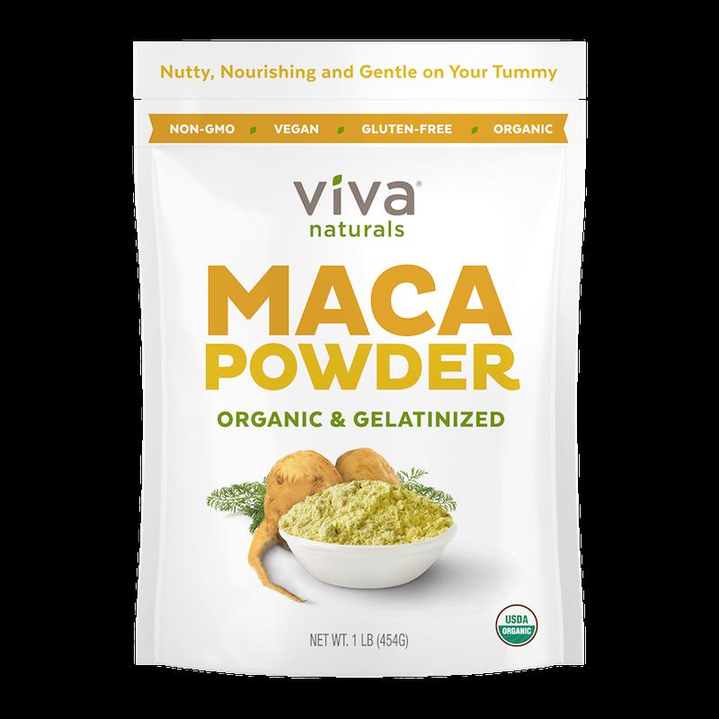 Organic Gelatinized Maca Powder - Viva Naturals - Certified Paleo, KETO Certified by the Paleo Foundation