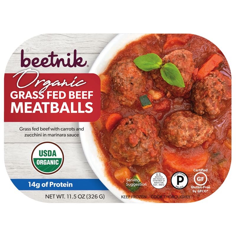 Organic Grass Fed Beef Meatballs - Beetik Foods - Certified Paleo by the Paleo Foundation
