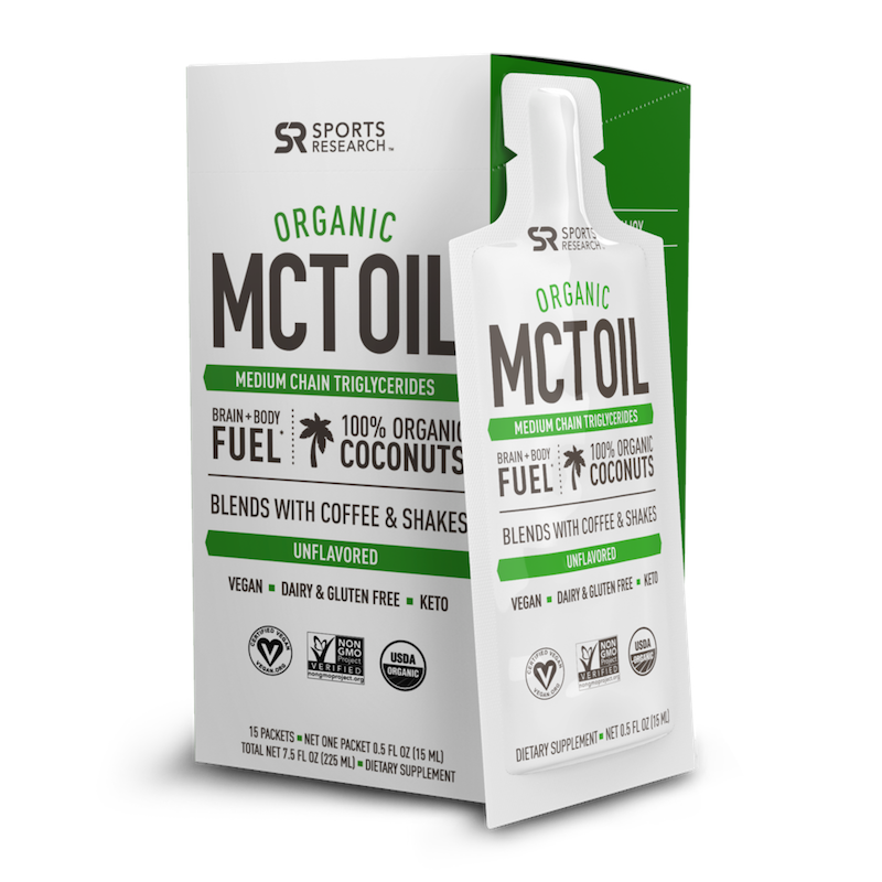 Organic MCT Oil - Sports Research - Certified Paleo, KETO Certified by the Paleo Foundation
