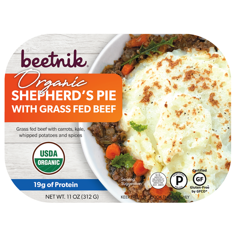 Organic Shepherd's Pie With Grass Fed Beef - Beetik Foods - Certified Paleo by the Paleo Foundation