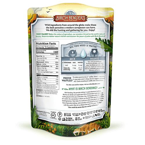 Paleo Pancake Mix back - Birch Benders - Certified Paleo - Paleo Foundation