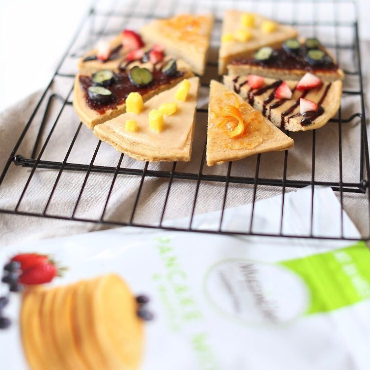 Paleo Pancakes with toppings - MuffinElse - Certified Paleo - Paleo Foundation