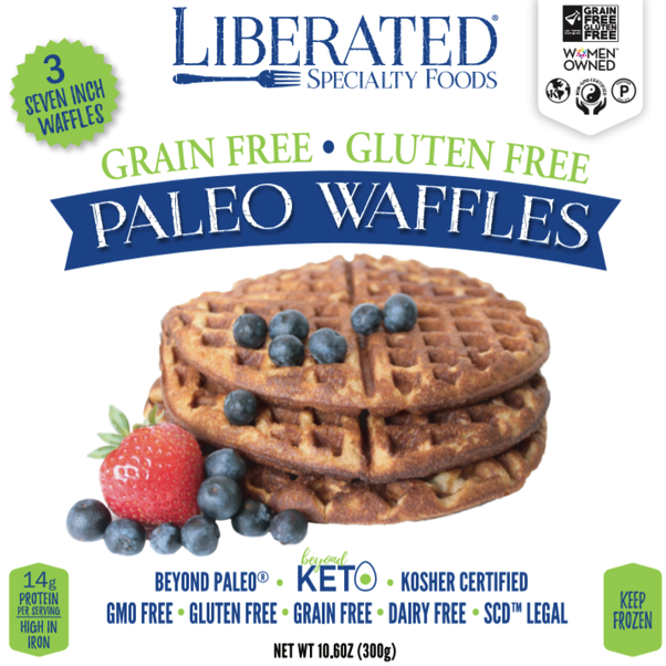 Paleo Waffles 1 - Liberated Specialty Foods - Certified Paleo, Grain Free Gluten Free Certified - Paleo Foundation