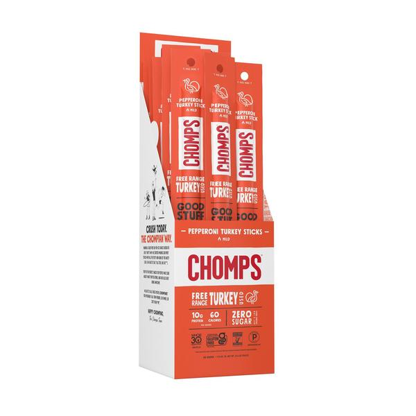 Pepperoni Turkey - Chomps Snack Sticks - Certified Paleo Keto Certified by the Paleo Foundation