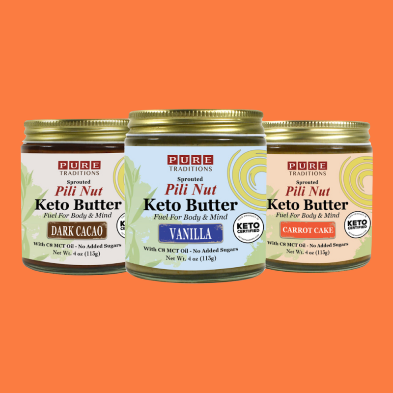 Pili Nut Keto Butters - Carrot Cake - Pure Traditions - Certified Paleo, KETO Certified by the Paleo Foundation