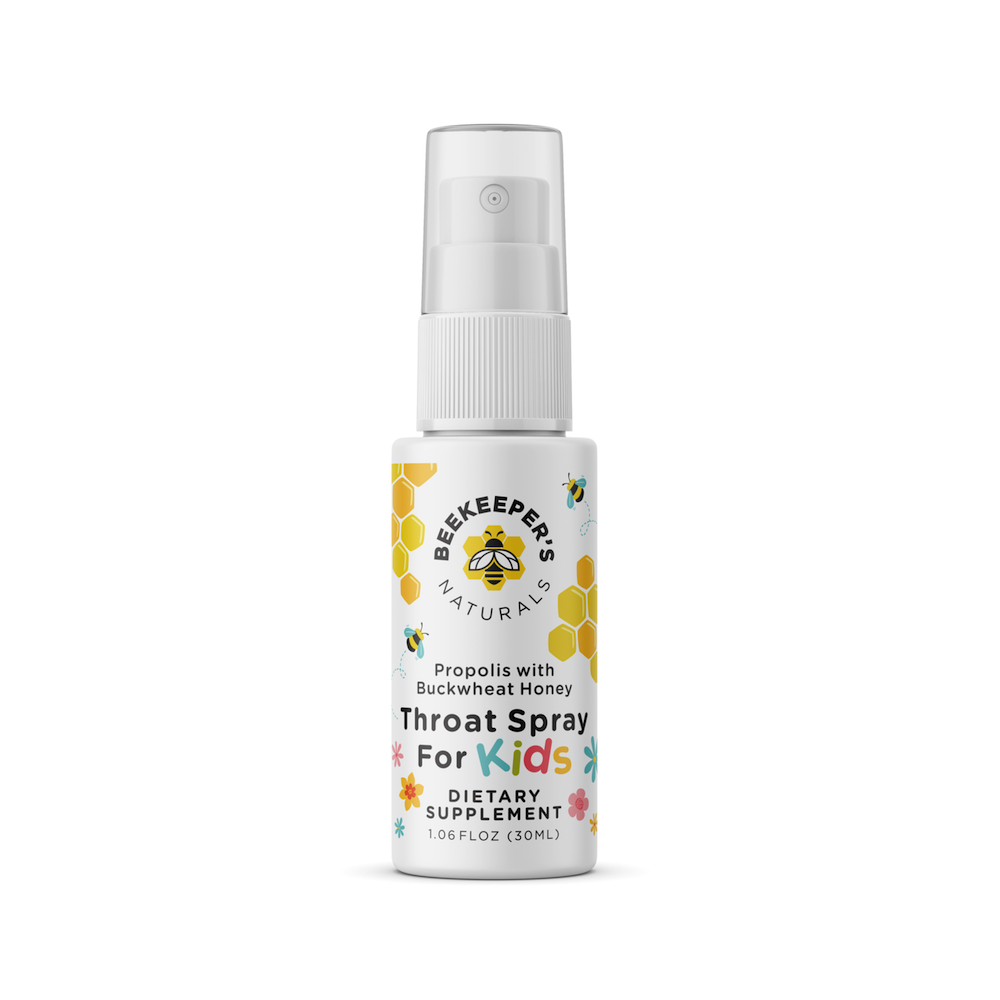 Propolis Throat Spray for Kids - Beekeeper's Naturals - Certified Paleo, Keto Certified by the Paleo Foundation