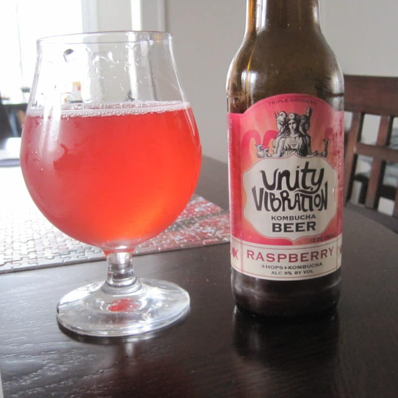 Raspberry Unity Vibration Kombucha Beer Certified Paleo Friendly by the Paleo Foundation