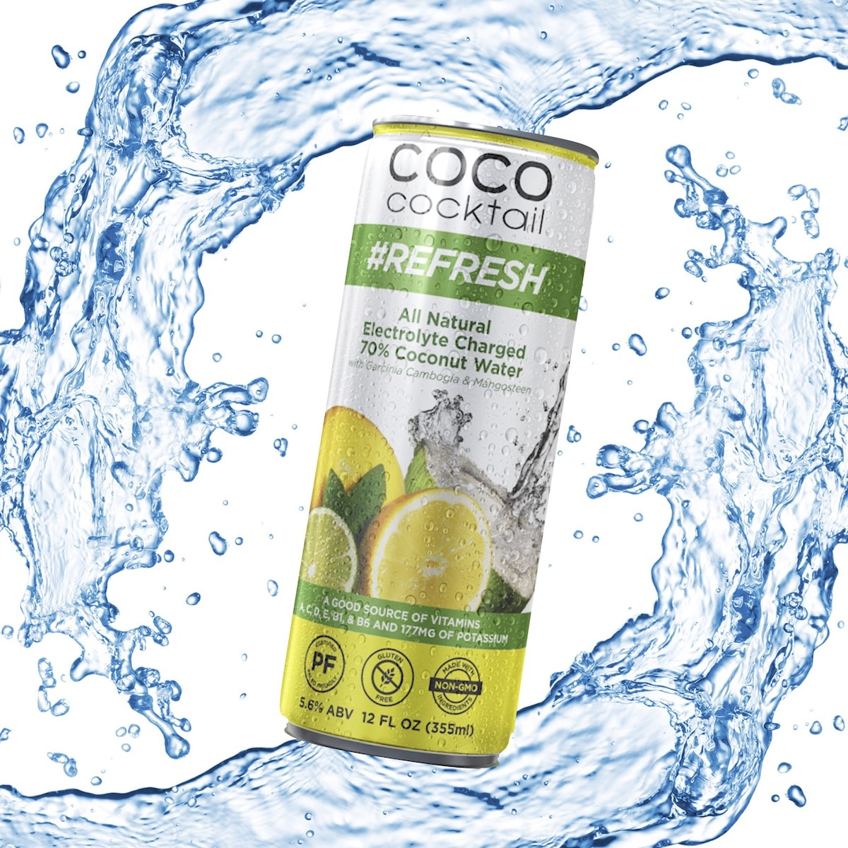 Coco Cocktail Spiked Sparkling Coconut Water Paleo Foundation
