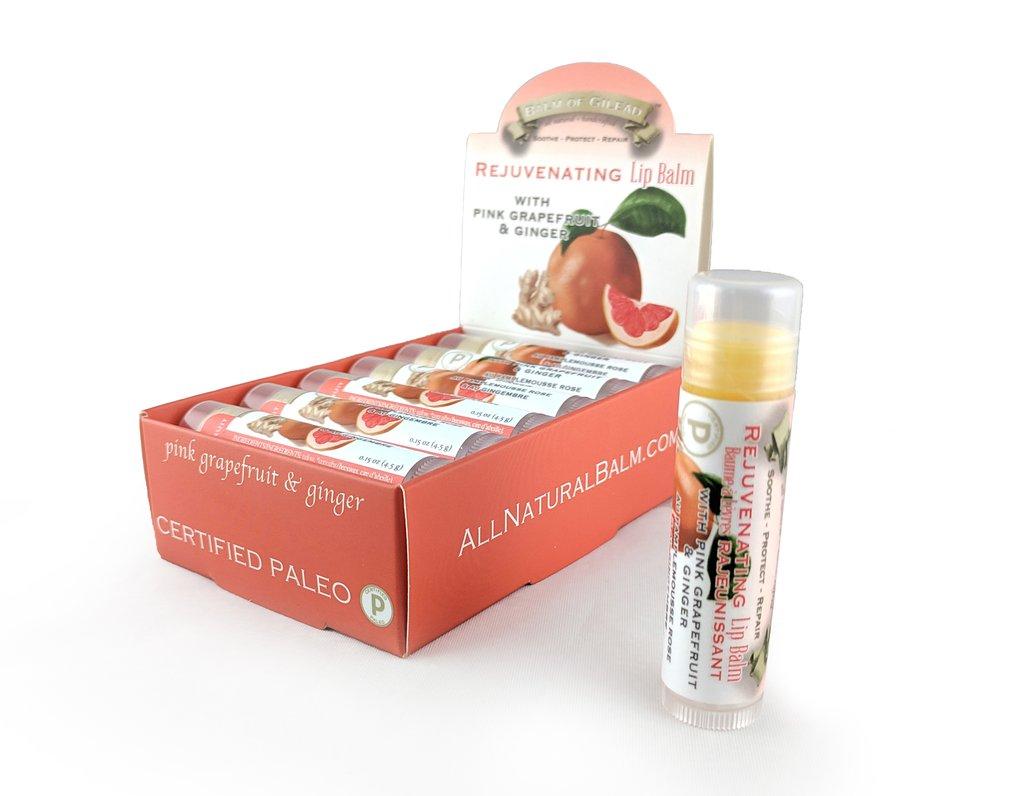Rejuvenating Pink Grapefruit & Ginger Lip Balm