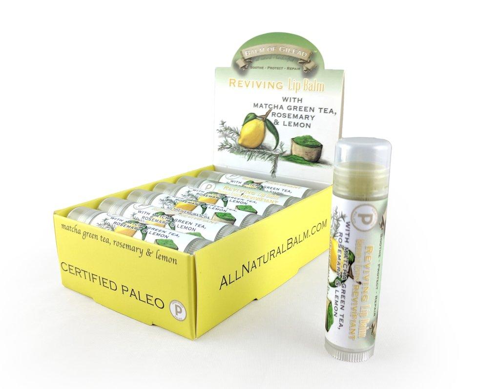 Reviving Matcha Green Tea with Rosemary & Lemon Lip Balm