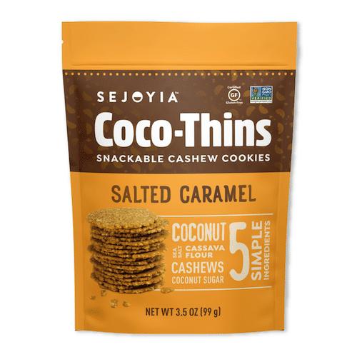 Salted Caramel Coco-Thins - Sejoyia - Certified Paleo, Paleo Vegan - Paleo Foundation