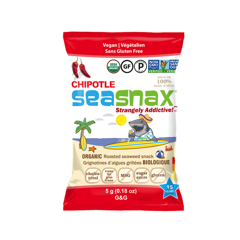 SeaSnax Organic Chipotle Grab & Go - SeaSnax - Certified Paleo, PaleoVegan, KETO Certified, Whole30, AIP - Paleo Foundation