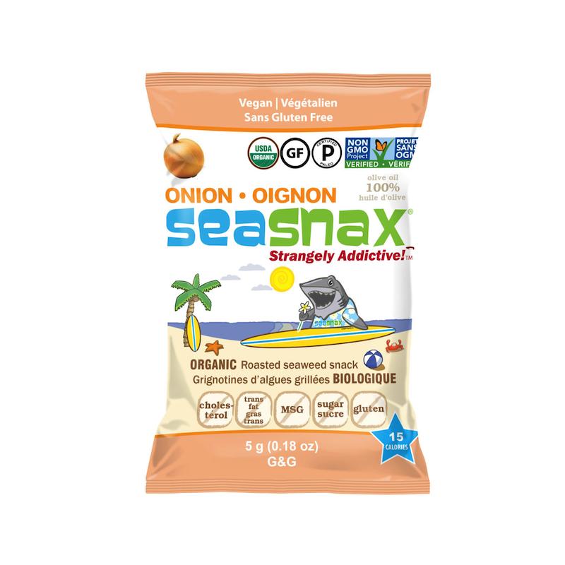 SeaSnax Organic Toasty Onion Grab & Go - SeaSnax - Certified Paleo, PaleoVegan, KETO Certified, Whole30, AIP - Paleo Foundation
