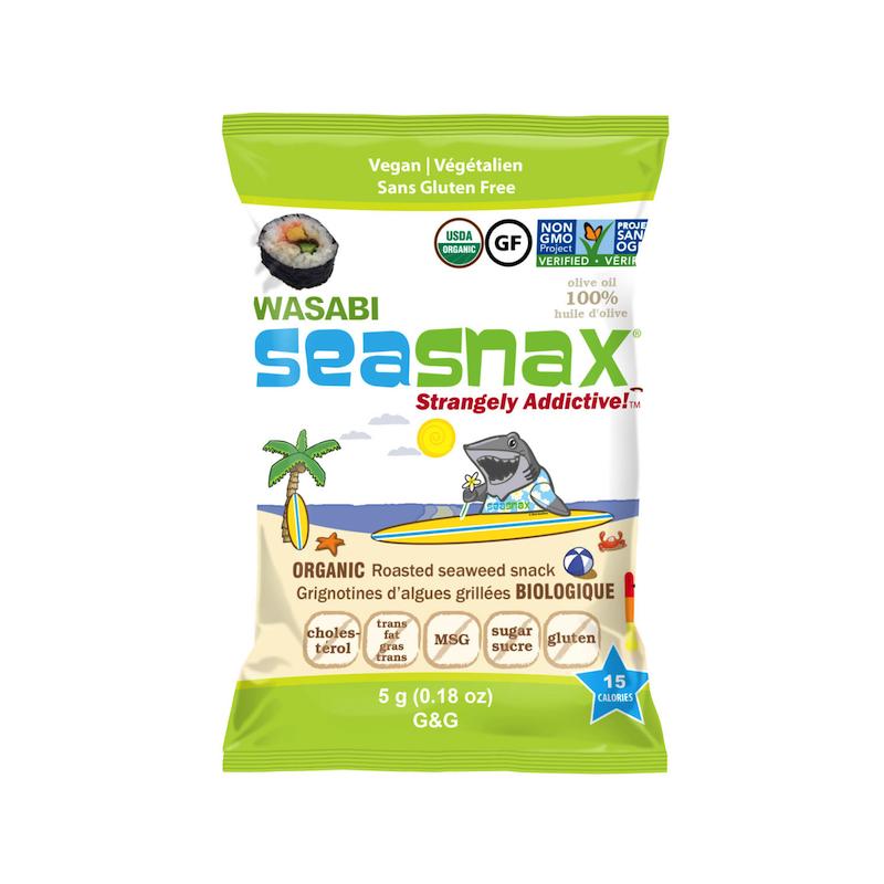SeaSnax Wasabi Grab & Go - SeaSnax - Paleo Friendly, PaleoVegan, KETO Certified, Whole30, AIP - Paleo Foundation