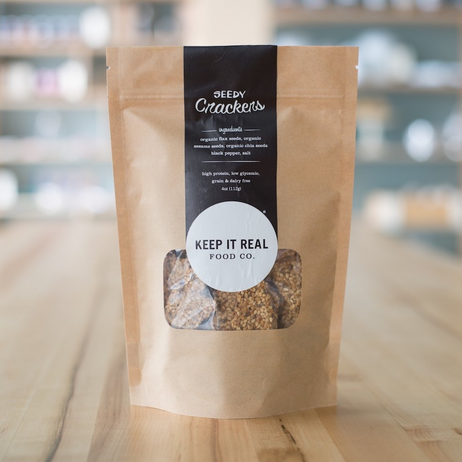 Seedy Crackers - Keep It Real Food Co. - Certified Paleo, PaleoVegan by the Paleo Foundation