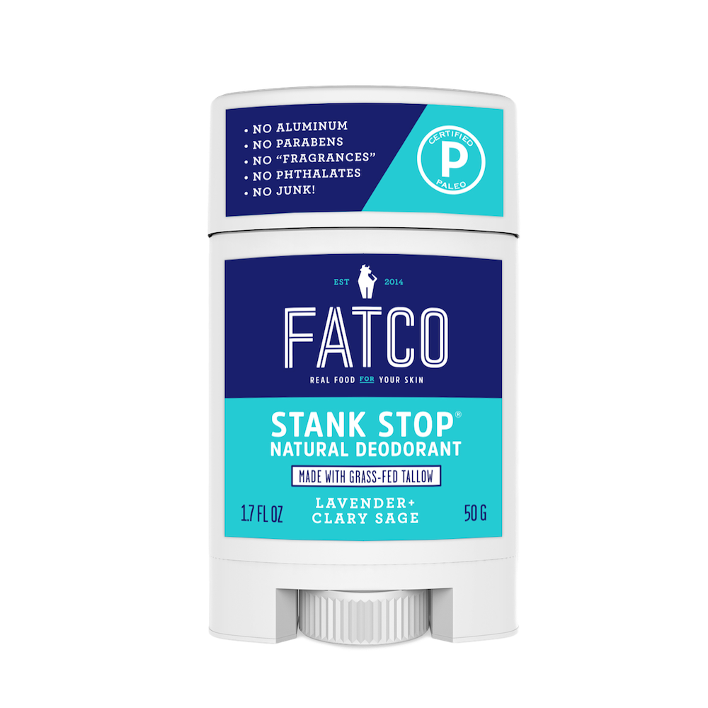 Stank Stop Stick - Lavender + Sage - FATCO - Certified Paleo by the Paleo Foundation