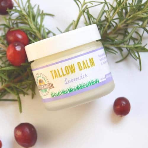 TALLOW BALM - Lavender - Buffalo Gal Grassfed Beauty - Certified Paleo - Paleo Foundation