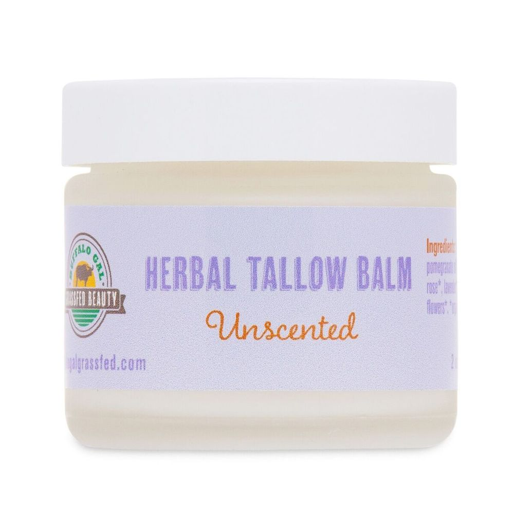 Tallow Balm - Unscented - Buffalo Gal Grassfed Beauty - Certified Paleo by the Paleo Foundation