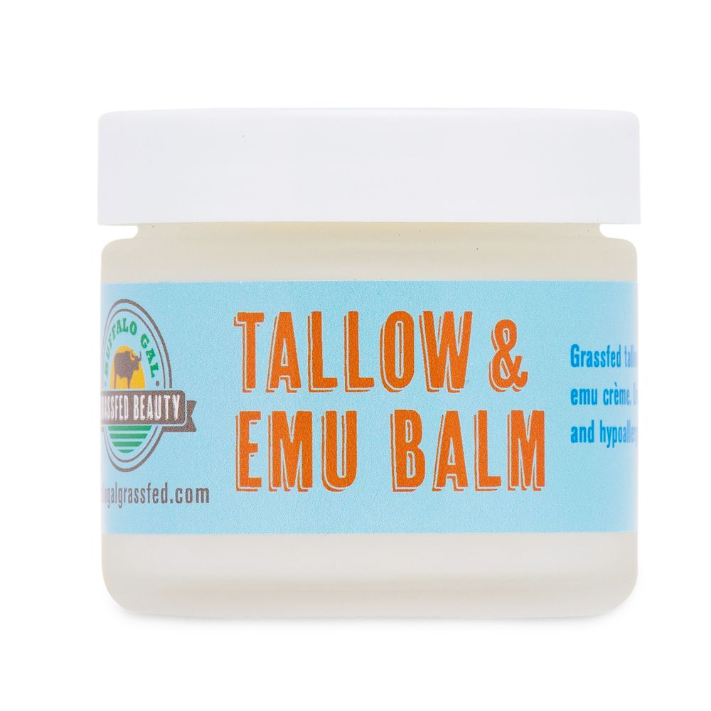 Tallow & Emu Balm - Buffalo Gal Grassfed Beauty - Certified Paleo by the Paleo Foundation