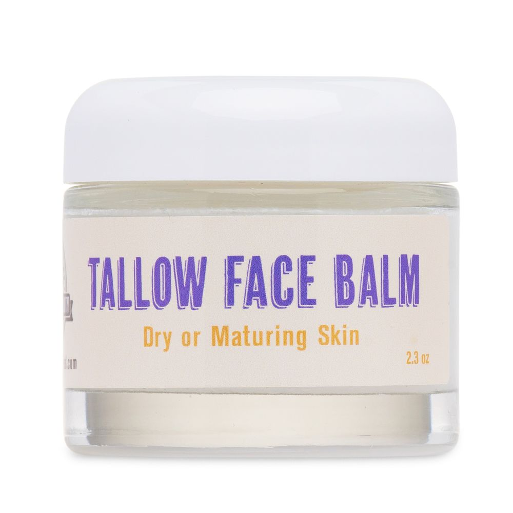 Tallow Facial Balm For Dry Or Maturing Skin - Buffalo Gal Grassfed Beauty - Certified Paleo by the Paleo Foundation