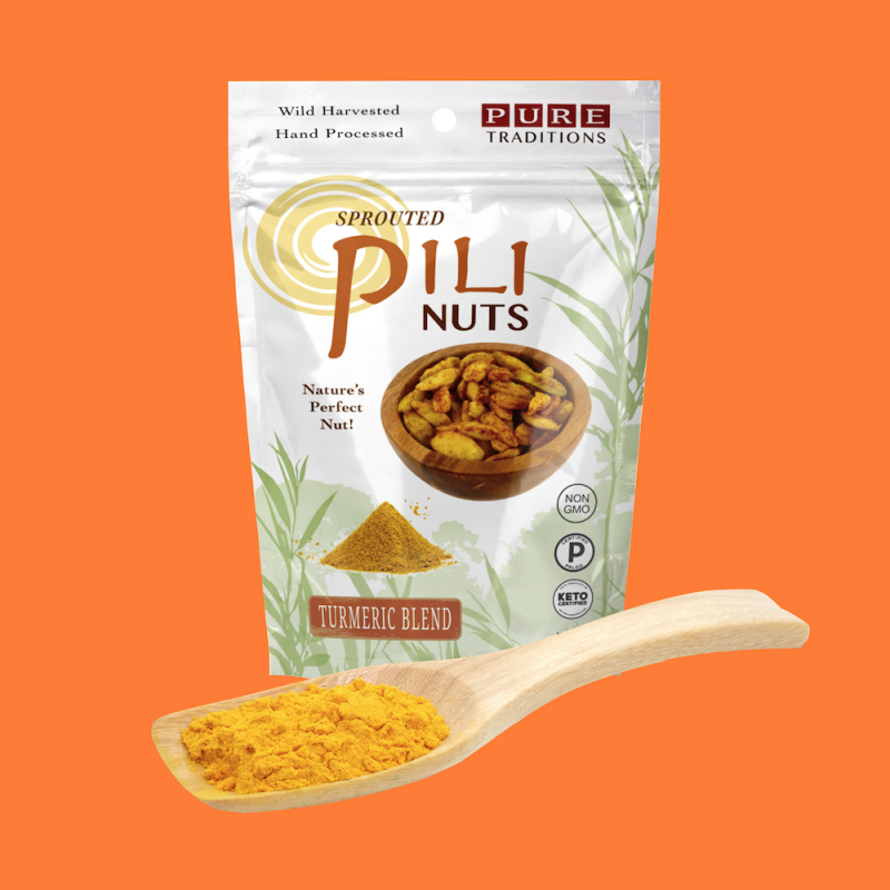 Turmeric Blend Pili Nuts - Pure Traditions - Certified Paleo, KETO Certified by the Paleo Foundation