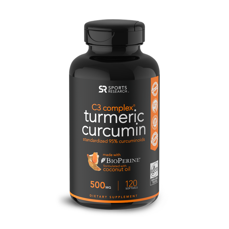 Turmeric Curcumin - Sports Research - Certified Paleo Friendly by the Paleo Foundation