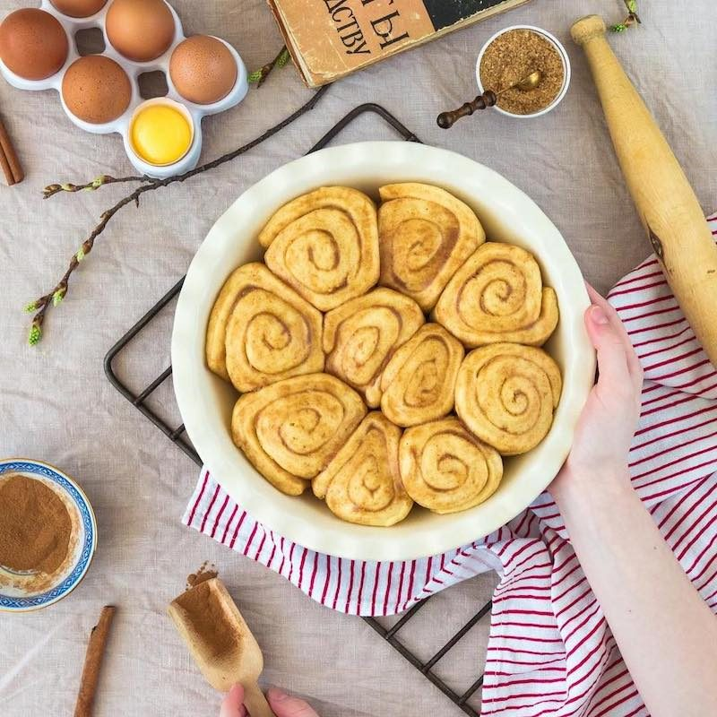 cinnamon buns made with Organic Coconut Flour - Viva Naturals - Certified Paleo by the Paleo Foundation