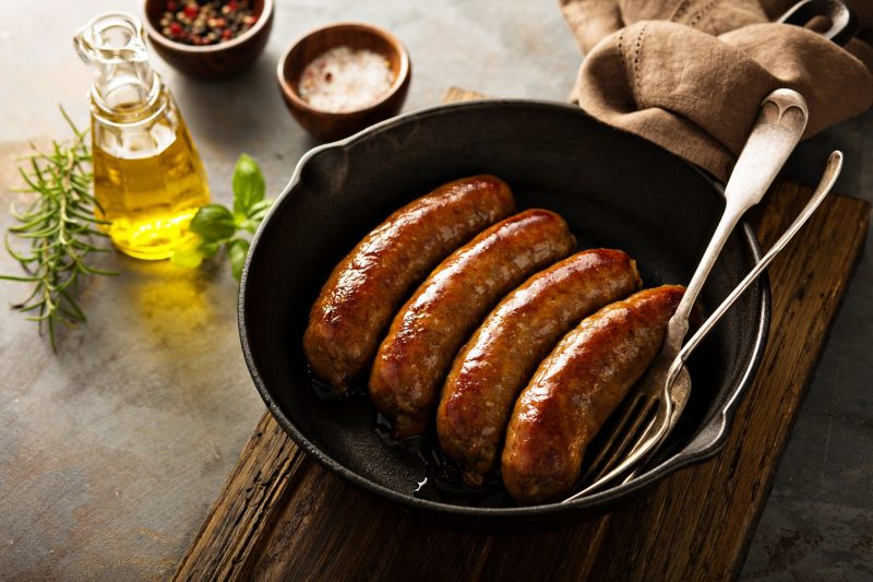Mulay's sausage is made from Never Ever, Antibiotic Free Pork (ABF) that are vegetarian-fed and raised humanely. We visit the farms and processing facilities, designed by Temple Grandin, to personally ensure that the pork we are using is the very best, highest quality product available in the marketplace today. Mulay's Sausages are Free From: Nitrates, MSG, Sugar, Soy, Dairy, and all Allergens. #paleo #paleofriendly