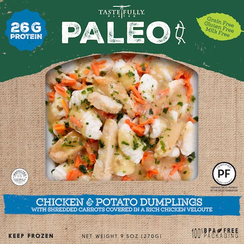Chicken and Dumplings with Shredded Carrots - Tastefully Plated - Paleo Friendly - Paleo Foundation