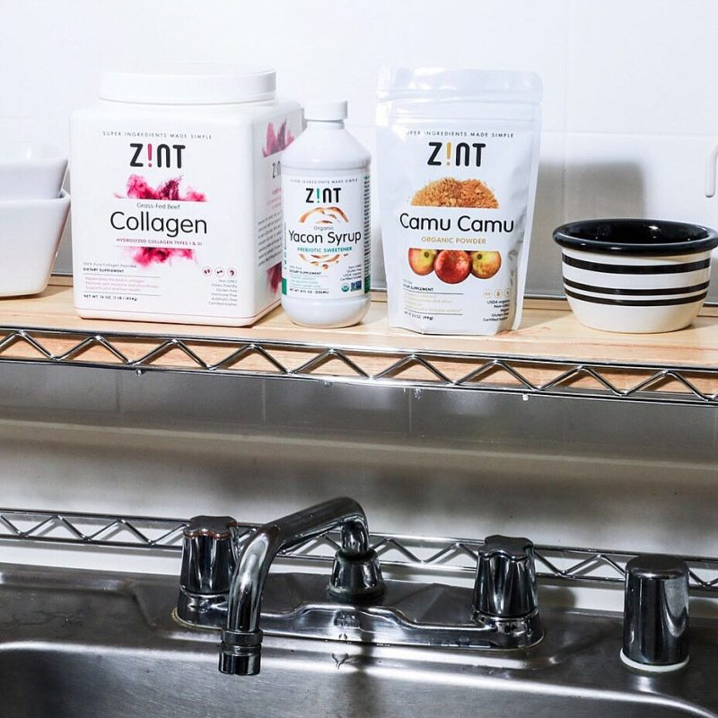 Lineup on sink - Zint Nutrition - KETO Certified, Certified Paleo Friendly by the Paleo Foundation