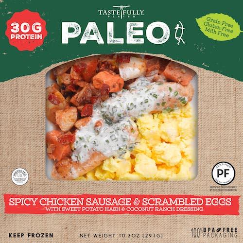 Spicy Chicken Sausage + Scrambled Egg - Tastefully Plated - Paleo Friendly - Paleo Foundation.jpg
