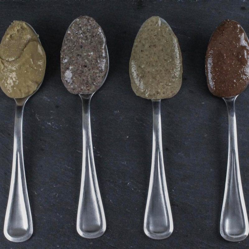 Spoons with almond butter - Gone Nuts - Gone Nuts' almond butters are made of the highest quality ingredients to provide a gluten-free, grain-free and refined-sugar free product. All of the almond butters are incredibly crave-worthy, with your health as a first priority! #certifiedpaleo #paleofriendly #KETOcertified #paleo