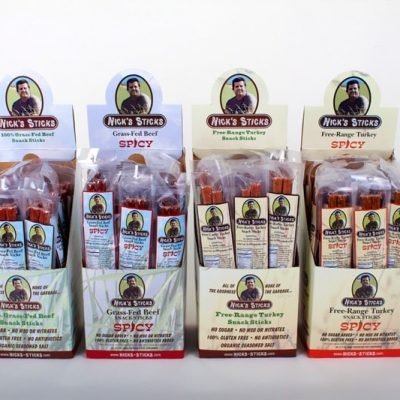Nick's Sticks - Nick makes snack sticks that start with 100% grass-fed beef and free-range turkey. Next comes a dash of organic seasoned salt, blended into his proprietary recipe. The result…the cleanest and best-tasting snack sticks you can find. #paleo #certifiedpaleo #ketocertified