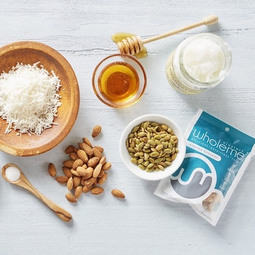 Ingredients and WholeMe Almond Coconut Clusters - WholeMe - Certified Paleo - Paleo Foundation