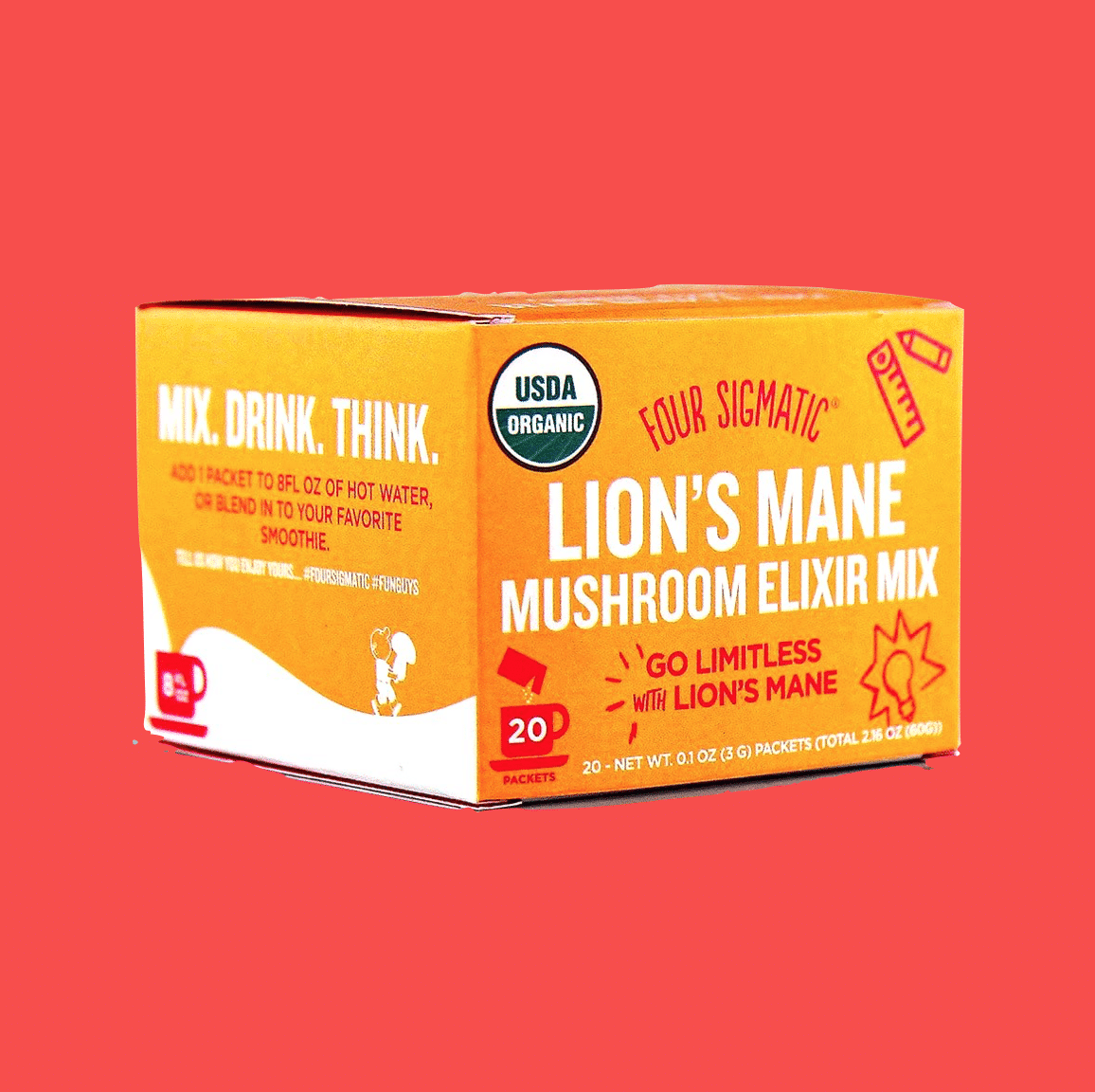 Four Sigmatic Lion's mane mushroom nootropics certified paleo organic natural