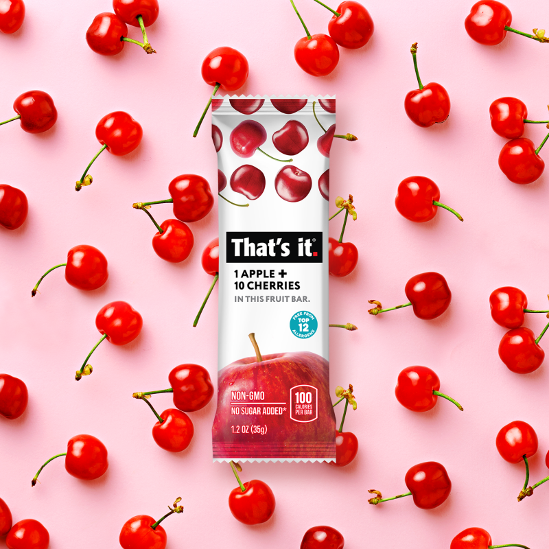 Apple + Cherry Bar - That's It. - Certified Paleo, KETO Certified by the Paleo Foundation