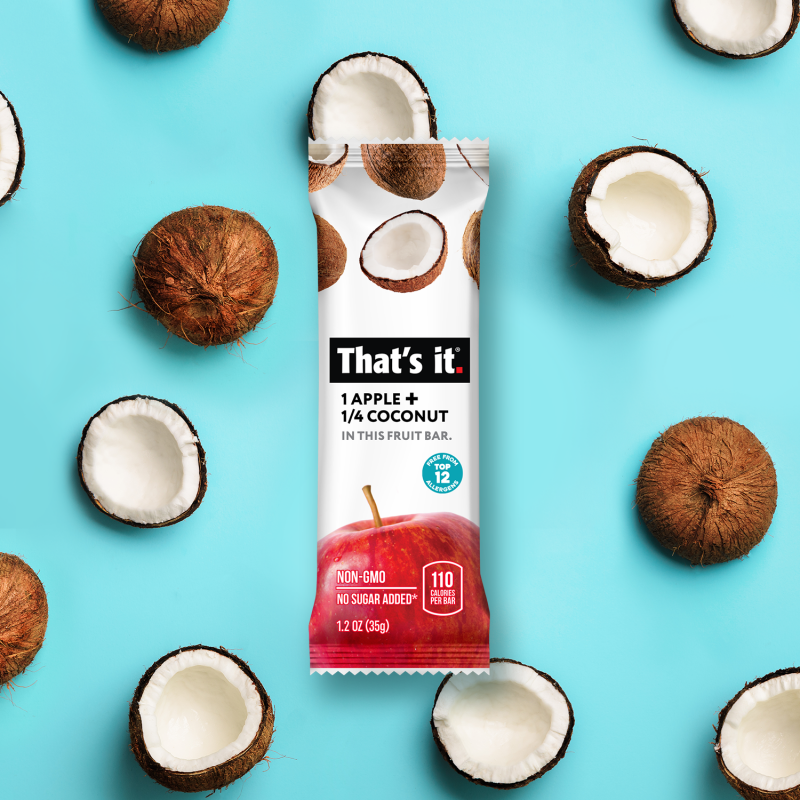 Apple + Coconut Bar - That's It. - Certified Paleo, KETO Certified by the Paleo Foundation