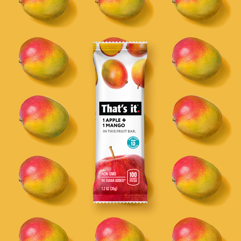 Apple + Mango Bar - That's It. - Certified Paleo, Keto Certified by the Paleo Foundation