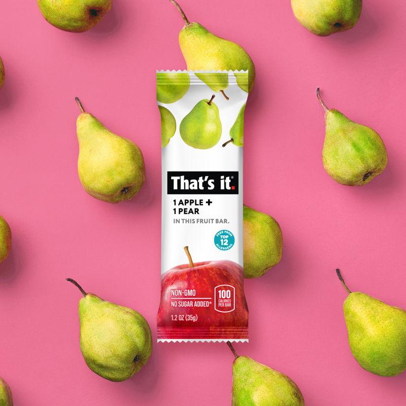 Apple + Pear Bar - That's It. - Certified Paleo, KETO Certified by the Paleo Foundation