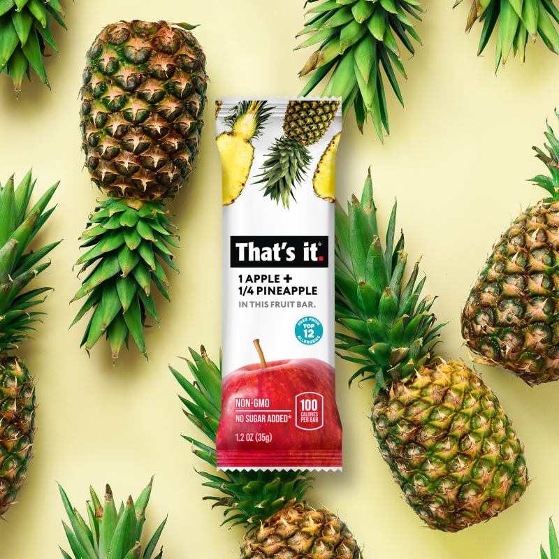 Apple + Pineapple Bar - That's It. - Certified Paleo, KETO Certified by the Paleo Foundation