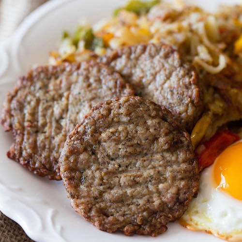 Breakfast sausage and eggs 2 - Jones Dairy Farm - Certified Paleo - Paleo Foundation
