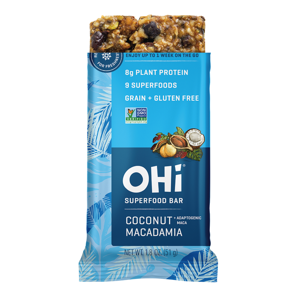 Coconut Macadamia - OHi Food Co. Certified Grain Free Gluten Free, Certified Paleo & PaleoVegan by the Paleo Foundation