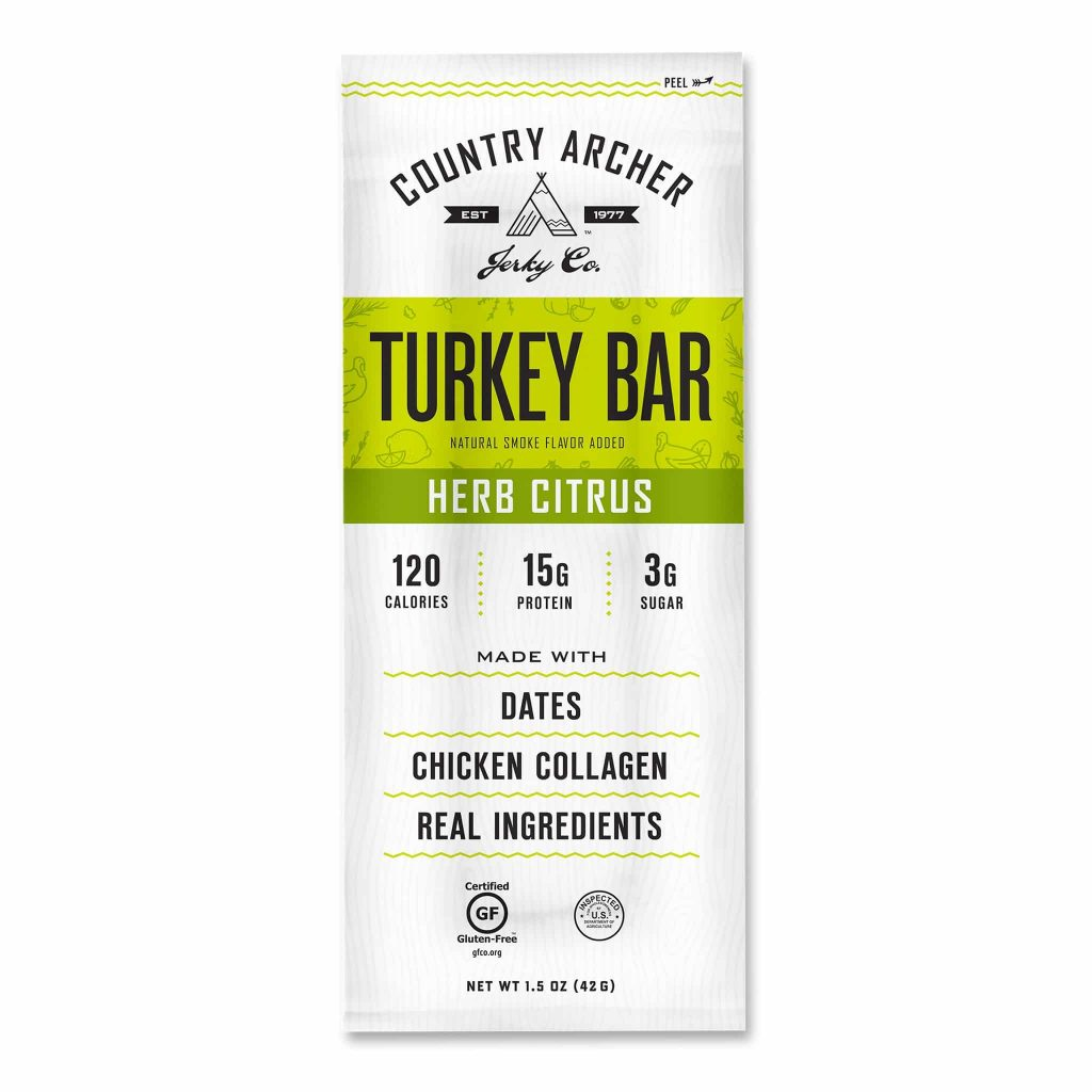 Frontier Bar - Herb Citrus Turkey - Original Beef - Country Archer Jerky Co. - Paleo Friendly, KETO Certified - Paleo Foundation