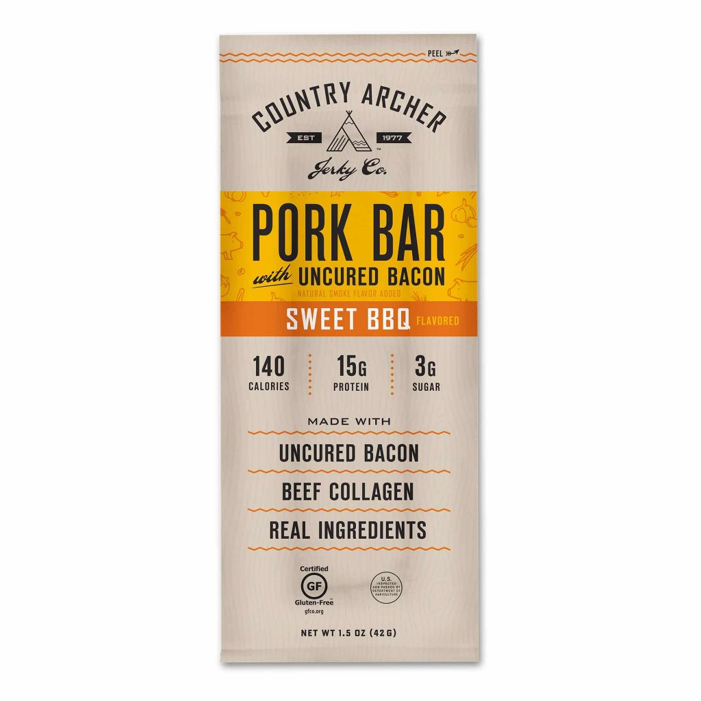 Frontier Bar - Sweet BBQ Pork - Original Beef - Country Archer Jerky Co. - Paleo Friendly - Paleo Foundation